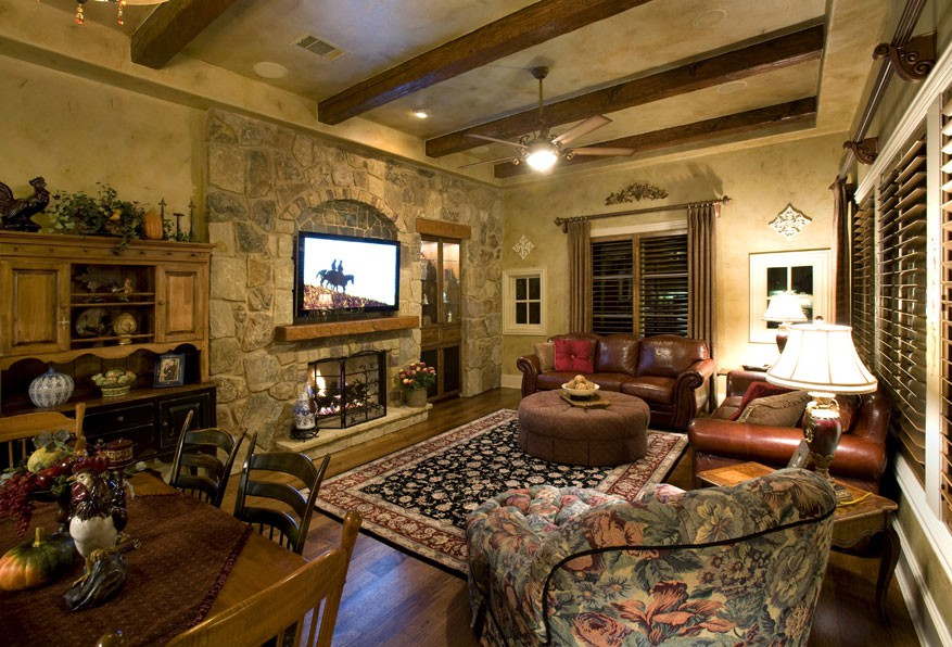 Facebook pinterest twitter houzz - Italian inspired living room design ideas ...